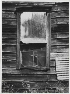 Ansel Adams, Window, Bear Valley, California, 1973, Polaroid Type 55, Gelatin silver print 9.8 x 13.3 © The Ansel Adams Publishing Rights Trust.