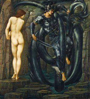 Edward Burne-Jones, The Doom Fulfilled, 1885-1888, oil on canvas, 154.9 x 140.3 cm (61 x 55 1/4 in.), Staatsgalerie Stuttgart.
