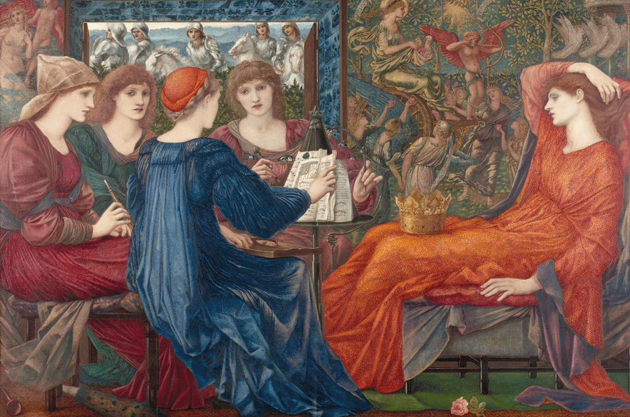 Edward Burne-Jones, Laus Veneris, 1873-1878, Öl auf Leinwand, 121.9 x 182.9 cm, gerahmt: 154 x 216 x 7 cm, Laing Art Gallery, Newcastle upon Tyne.