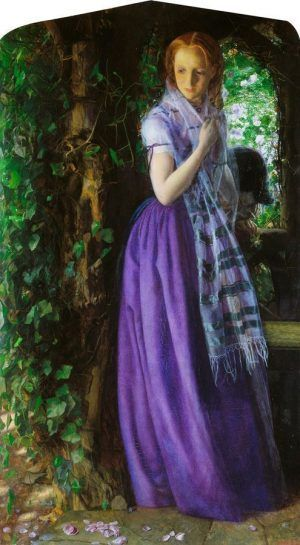 Arthur Hughes, April Love, 1855-1856, oil on canvas, 88.9 x 49.5 cm (35 x 19 1/2 in.), Tate. Purchased 1909.