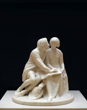 Alexander Munro, Paolo and Francesca, 1852, marble, 66 x 67.5 x 53 cm (26 x 26 5/8 x 20 7/8 in.), Birmingham Museums and Art Gallery, Purchased 1960,