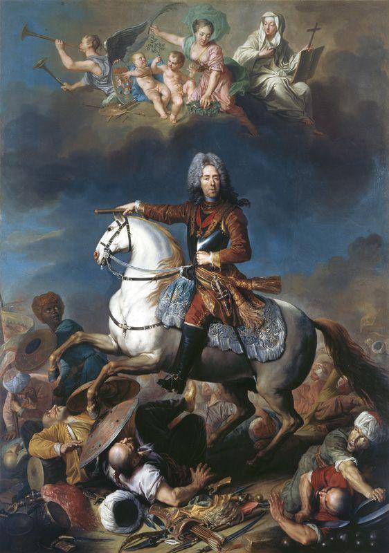 Jacob van Schuppen, Reiterbildnis Prinz Eugen von Savoyen, vor 1721, Öl auf Leinwand, 396 × 275 cm, Galleria Sabauda, Turin © Galleria Sabauda, Turin.