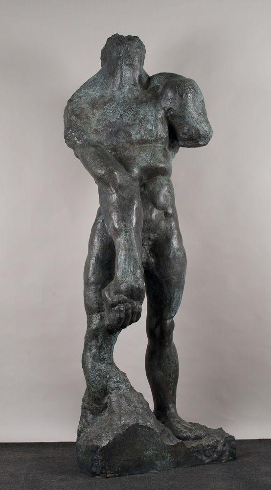 Alfred Hrdlicka, Große männlicher Torso (Hommage à Sonny Liston), 1963-66 (Guß 2006), Bronze, 225 x 80 x 45 cm © MUSA; Foto: Michael Wolschlager.