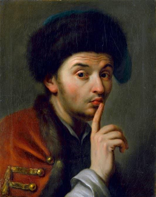 Pietro Antonio Graf Rotari, Mann mit Pelzmütze, den rechten Zeigefinger erhoben, undat, Öl auf Leinwand, 35 x 43,5 cm © Gemäldegalerie Alte Meister, Staatliche Kunstsammlungen Dresden.