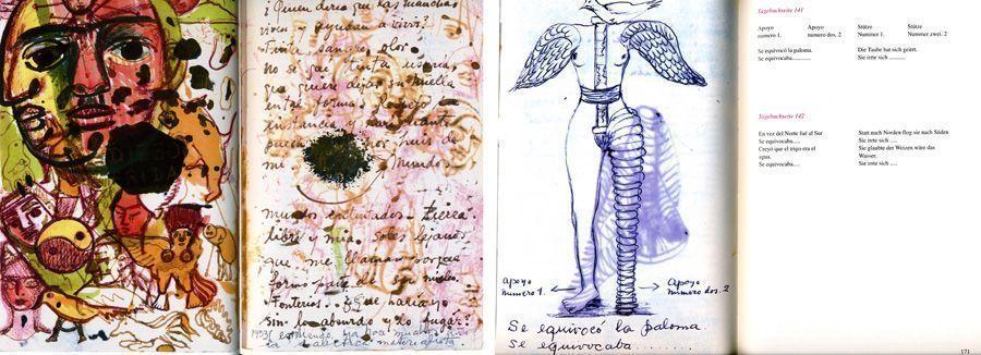 Renate Kroll, Blicke die ich sage. Frida Kahlo. Das Mal- und Tagebuch, Seiten (Dietrich Reimer Verlag)