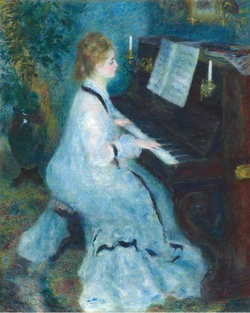 Pierre-Auguste Renoir, Frau am Klavier, 1875/76, Öl auf Leinwand, 93 × 74 cm (© Chicago, The Art Institute of Chicago, Mr. and Mrs. Martin A. Ryerson Collection D372)