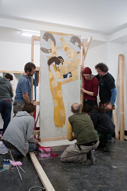 Close up, Kopie nach Klimts Poesie im Beethovenfries, Akademie der bildenden Künste Wien © Secession2012, Foto: Wolfgang Thaler.