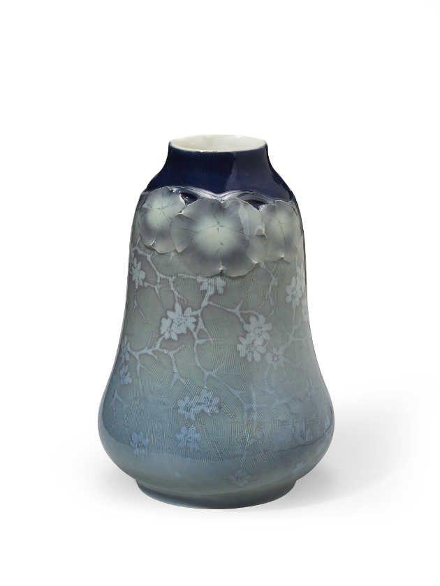 Rörstrand, Vase (blau), um 1899, Entwurf Alf Wallander, H 30.5 cm.