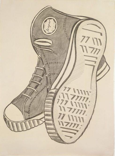 Roy Lichtenstein, Keds, 1962, Frottage und Grafitstift, Sammlung James N. Goodman Irrevocable Trust © Estate of Roy Lichtenstein.
