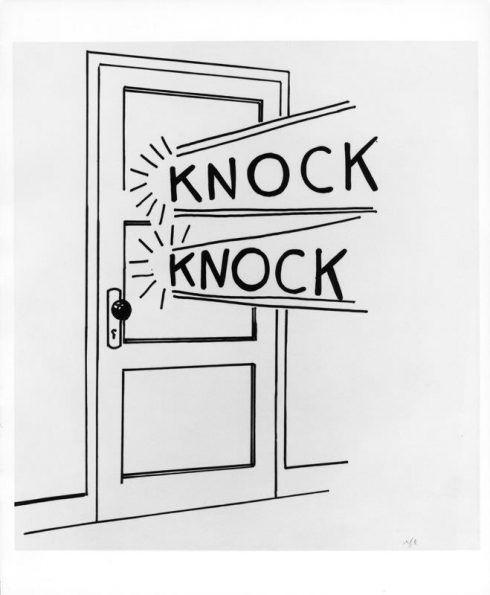 Roy Lichtenstein, Knock Knock, 1961, Lavierte Federzeichnung, The Sonnabend Collection © Estate of Roy Lichtenstein.