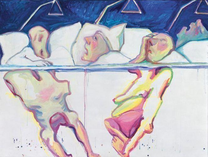 Maria Lassnig, Krankenhaus, 2005, Öl auf Leinwand, 150 x 200 cm, Privatsammlung, Courtesy Hauser & Wirth.