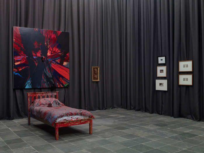 Ausstellungsansicht Schlaflos, Foto: Gregor Titze, © Belvedere, Wien.