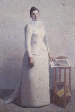 Achille Laugé, Porträt der Madame Astre, 1892, Öl auf Leinwand, 198 × 133 cm (Musée des Beaux-Arts de Carcassonne)