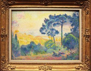 Henri-Edmond Cross, Landschaft der Provence, 1898, Öl auf Leinwand, 60,3 × 81,2 cm (Wallraf-Richartz-Museum & Fondation Corboud, Köln)