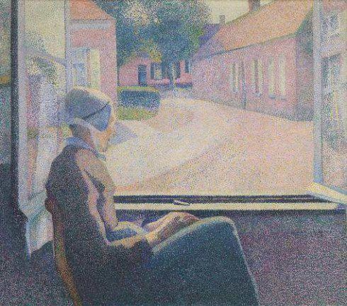 Henry van de Velde, Frau am Fenster, 1889, Öl auf Leinwand, 111 × 125 cm (Koninklijk Museum voor Schone Kunsten, Antwerpen)