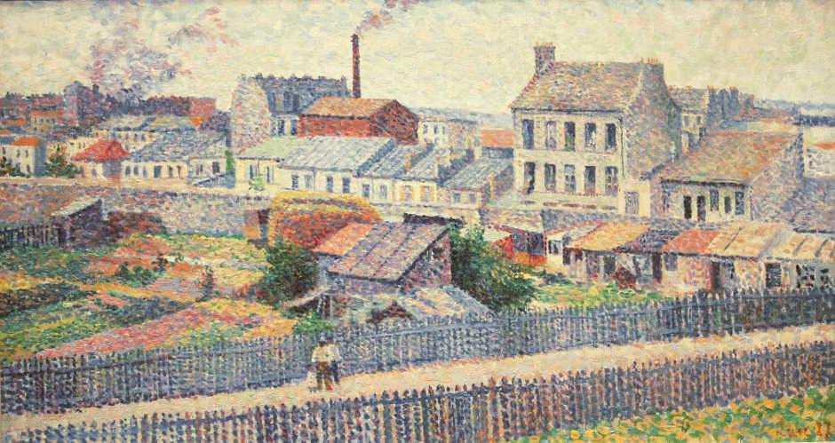 Maximilien Luce, Montmartre, Rue Championnet, 1887, Öl auf Leinwand, 45,5 × 81 cm (Kröller-Müller Museum, Otterlo)