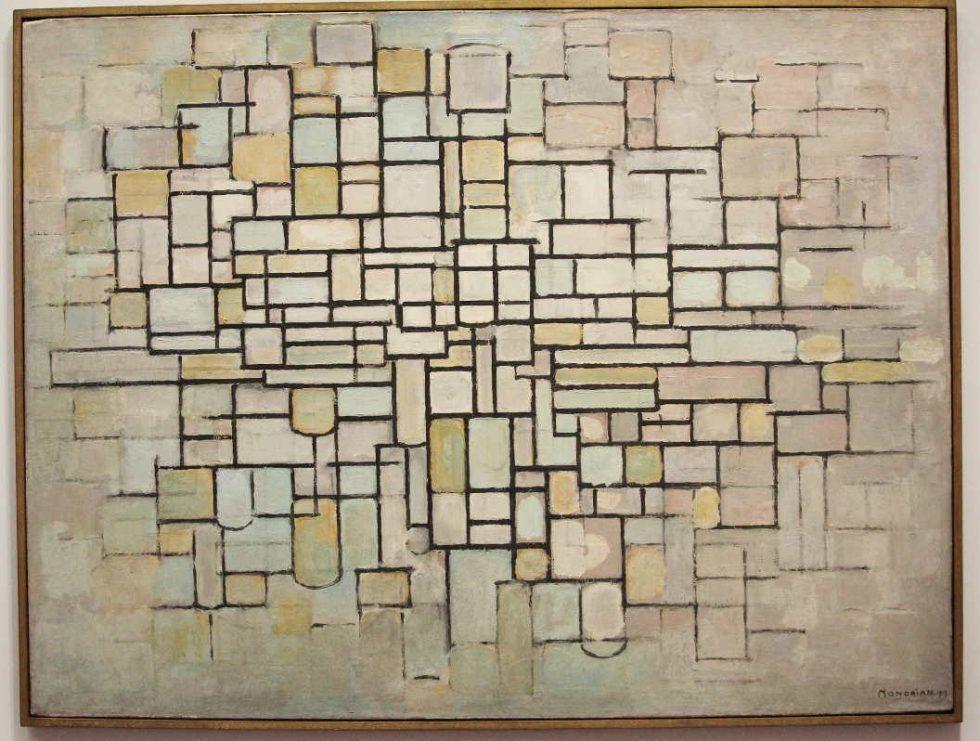 Piet Mondrian, Komposition Nr. II, 1913, Öl auf Leinwand, 88 × 115 cm (Kröller-Müller Museum, Otterlo)