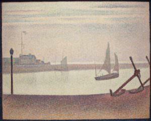 Georges Seurat, Ein Abend am Kanal von Gravelines, 1890, Öl auf Leinwand, 65.4 x 81.9 cm (The Museum of Modern Art, New York, Gift of Mr. and Mrs. William A. M. Burden, Inv.-Nr. 785.1963)