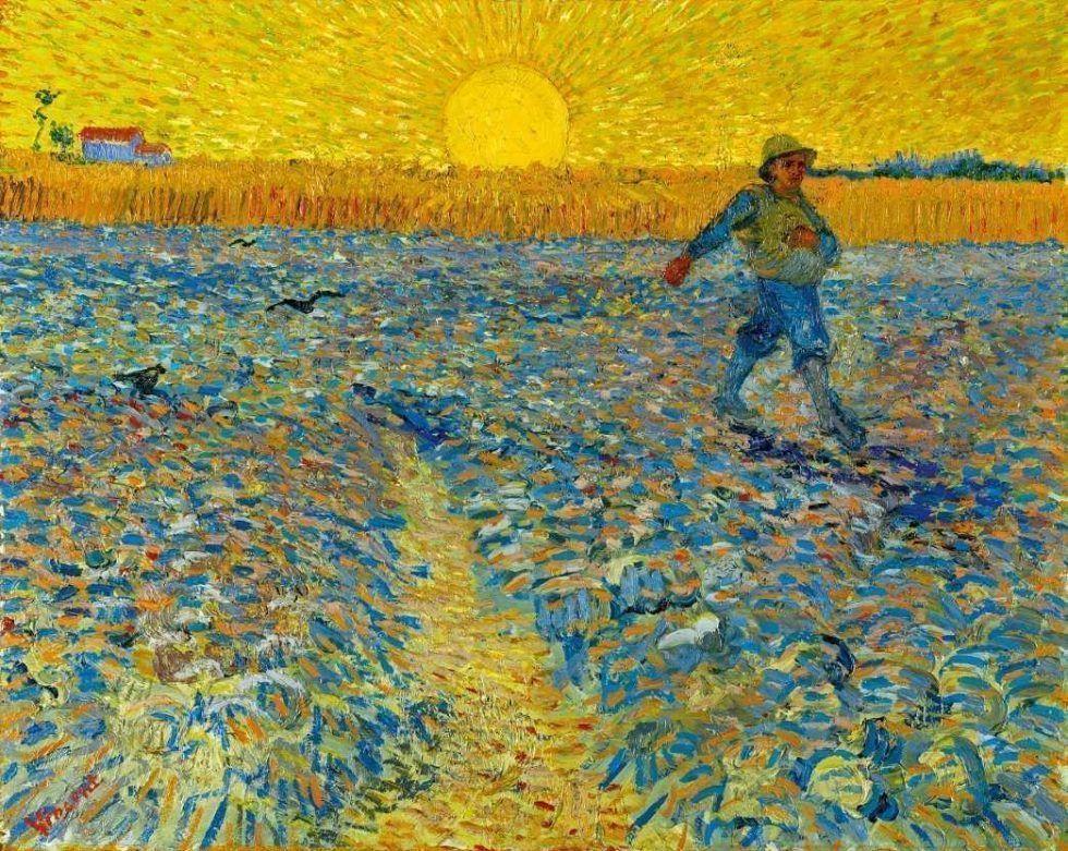 Vincent van Gogh, Der Sämann, 1888, Öl auf Leinwand, 64,2 × 80,3 cm (Kröller-Müller Museum, Otterlo)