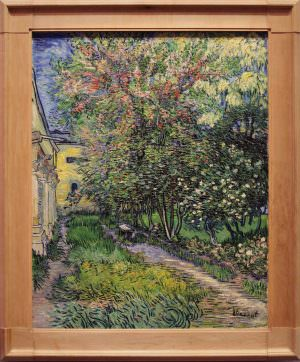 Vincent van Gogh, Garten der Heilanstalt in Saint-Rémy, 1889, Öl auf Leinwand, 91,5 × 72 cm (Kröller-Müller Museum, Otterlo)