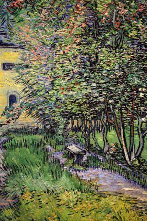 Vincent van Gogh, Garten der Heilanstalt in Saint-Rémy, Detail, 1889, Öl auf Leinwand, 91,5 × 72 cm (Kröller-Müller Museum, Otterlo)