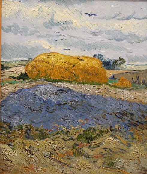 Vincent van Gogh, Heuhaufen unter einem Wolkenhimmel, Juli 1890, Öl auf Leinwand, 63,3 × 53 cm (Kröller-Müller Museum, Otterlo)