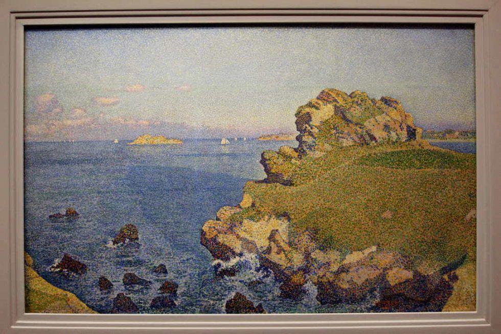 Théo van Rysselberghe, Per-Kiridy bei Flut, 1889, Öl auf Leinwand, 67,8 × 106,3 cm (Kröller-Müller Museum, Otterlo)