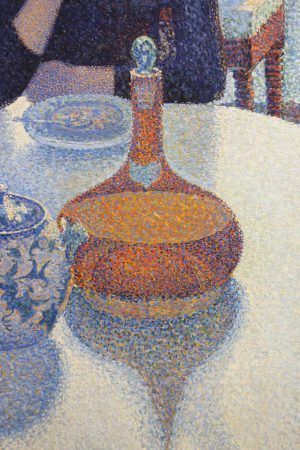 Paul Signac, Das Speisezimmer (Frühstück), Flasche, 1886/87, Öl auf Leinwand, 89,5 × 116,5 cm (Otterlo, Kröller-Müller Museum)