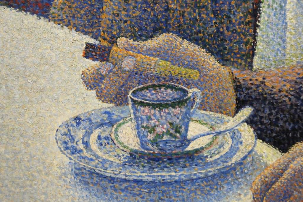 Paul Signac, Das Speisezimmer (Frühstück), Hand, 1886/87, Öl auf Leinwand, 89,5 × 116,5 cm (Otterlo, Kröller-Müller Museum)