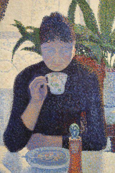 Paul Signac, Das Speisezimmer (Frühstück), Mutter, 1886/87, Öl auf Leinwand, 89,5 × 116,5 cm (Otterlo, Kröller-Müller Museum)