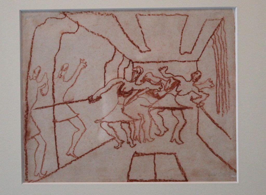 Carl Fredrik Hill, Buntstiftzeichnung, 1889-1911, Installationsansicht in der Kunsthalle Wien Karlsplatz 2014.