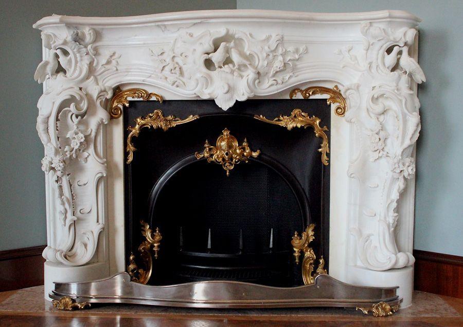 Kamin im Schreibzimmer, Stadtpalais des Fürsten von und zu Liechtenstein, Wien 1010, Foto: Alexandra Matzner.