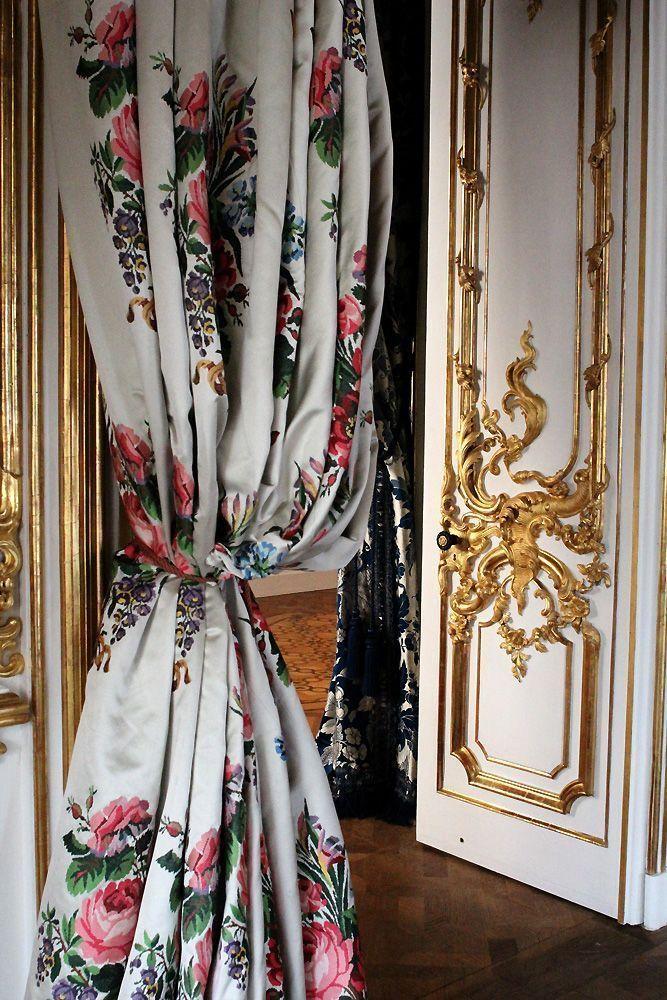 Vorhang im Bouquetzimmer im Stadtpalais des Fürsten von und zu Liechtenstein, Wien 1010, Foto: Alexandra Matzner.