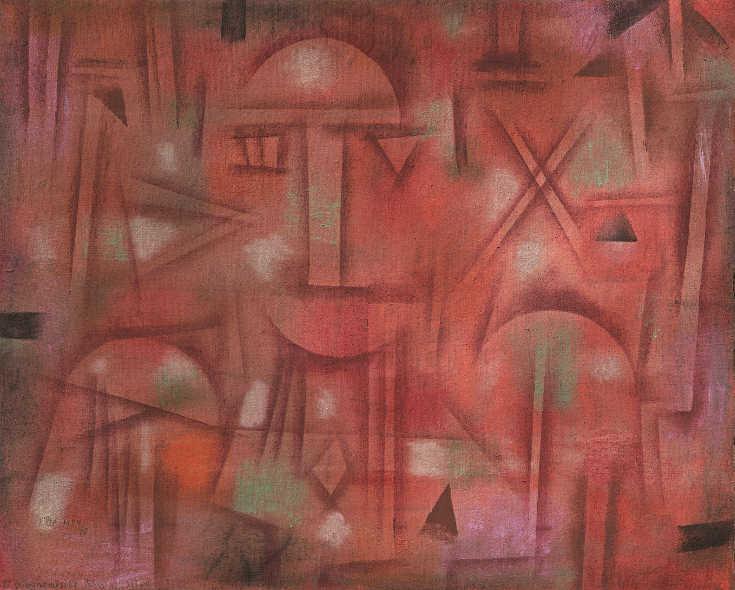 Paul Klee, Physiognomische Kristallisation, 1924, Öl auf Nesseltuch auf Karton, 41,9 x 51 cm, Kunstsammlung Nordrhein-Westfalen, Düsseldorf.