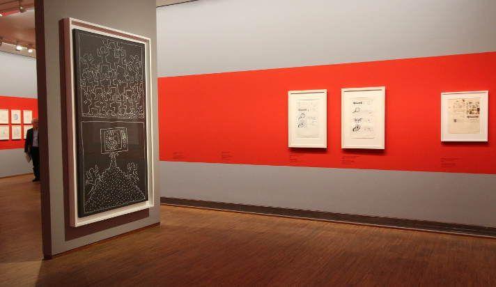 Sturtevant, Installationsansicht (Keith Haring), Albertina 2015, Foto: Alexandra Matzner.