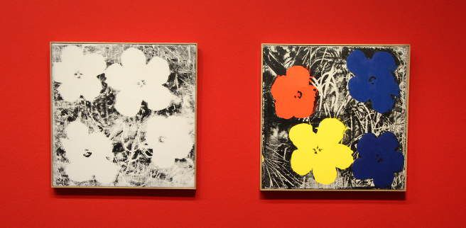 Sturtevant, Installationsansicht mit Flowers, Albertina 2015, Foto: Alexandra Matzner.
