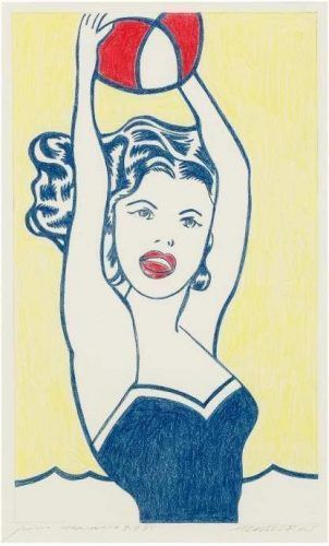 Sturtevant, Study for Lichtenstein Girl with Ball, 1988, Collection Maxime Guinnebault, Paris.