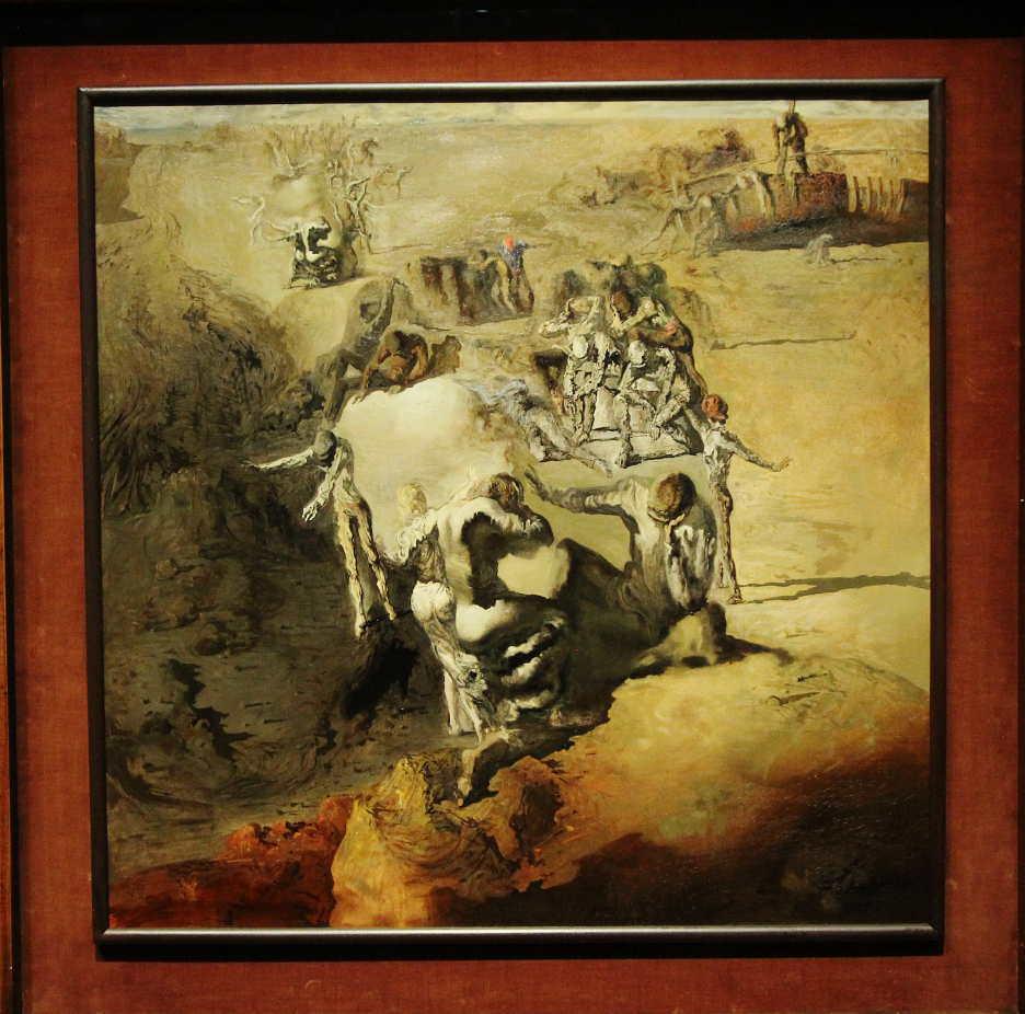Salvador Dalí, Le grand paranoïaque [Der große Paranoiker], 1936 (Museum Boijmans van Beuningen, Rotterdam, ehemals Sammlung E. James), Ausstellungsansicht Hamburger Kunsthalle 2016, Foto: Alexandra Matzner.