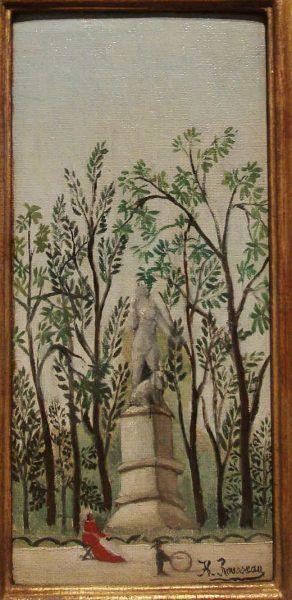 Henri Rousseau, La statue de Diane au parc [Statue der Diana im Park], um 1909 (Scottish National Gallery of Modern Art, Edinburgh, Nachlass Gabrielle Keiller), Ausstellungsansicht Hamburger Kunsthalle 2016, Foto: Alexandra Matzner.