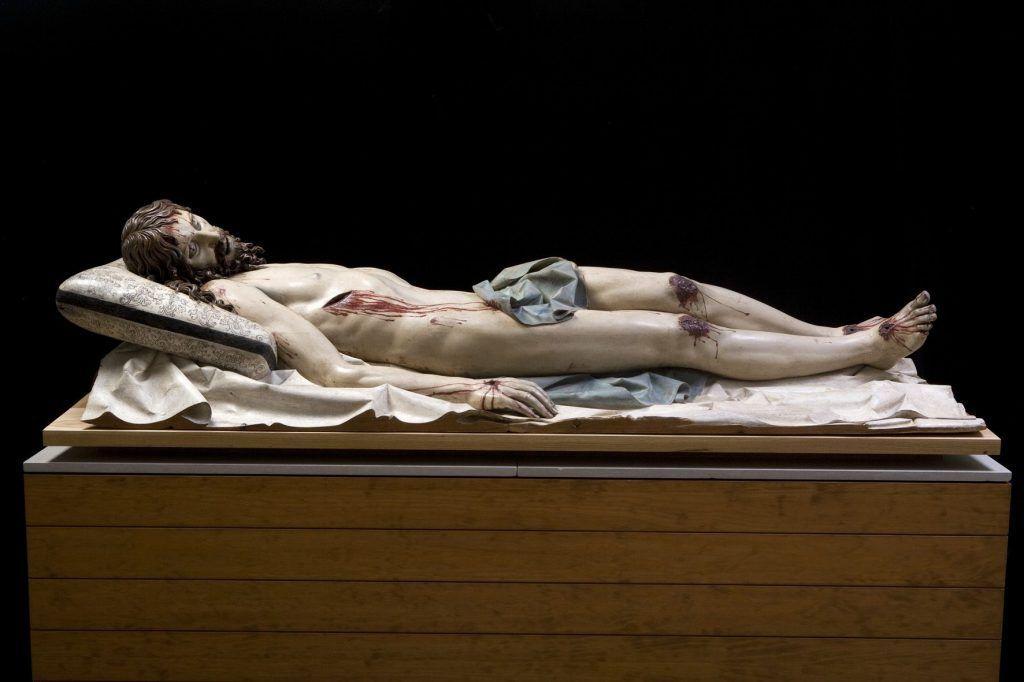 Gregorio Fernández (um 1576–1636), Toter Christus, 1625–1630 © Photo Imagen M.A.S. Courtesy of Museo Nacional del Prado, Madrid. On long loan to the Museo Nacional Colegio de San Gregorio, Valladolid.