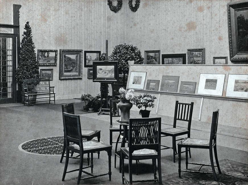 Anonym, Einblick in die Nachlass-Ausstellung von Theodor von Hörmann in der Wiener Secession, 1899, 18,8 × 25,3 cm (Künstlerhaus Archiv, Wien)