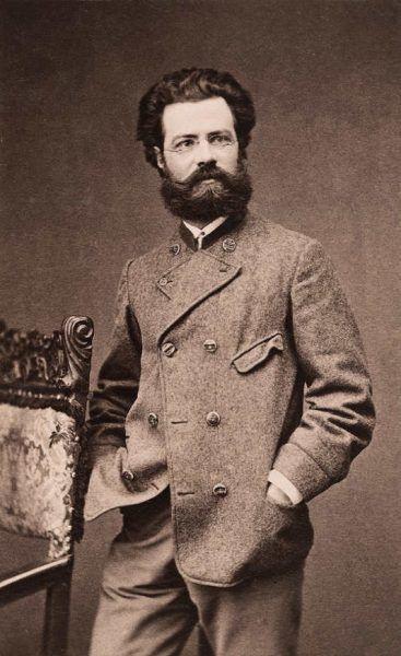 Anonym, Theodor von Hörmann, Wien um 1884, Fotografie auf Untersatzkarton, 7,5 × 12,4 cm (Gert Bertuch)