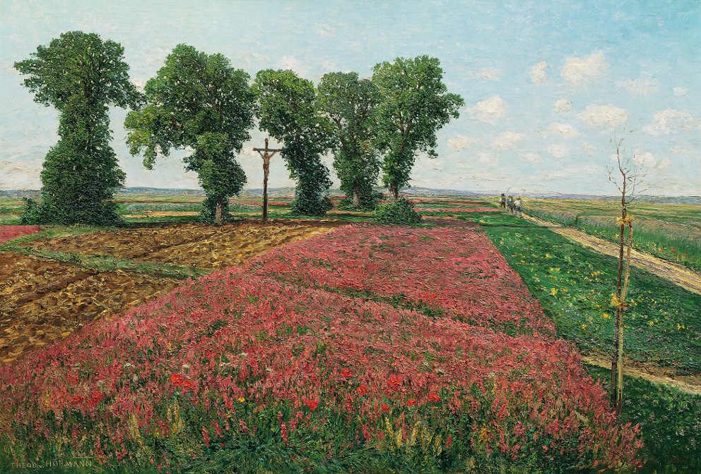 Theodor von Hörmann, Das große Esparsettenfeld in Znaim IV, 1893, Öl auf Leinwand, 71 × 103,5 cm (Belvedere, Wien)