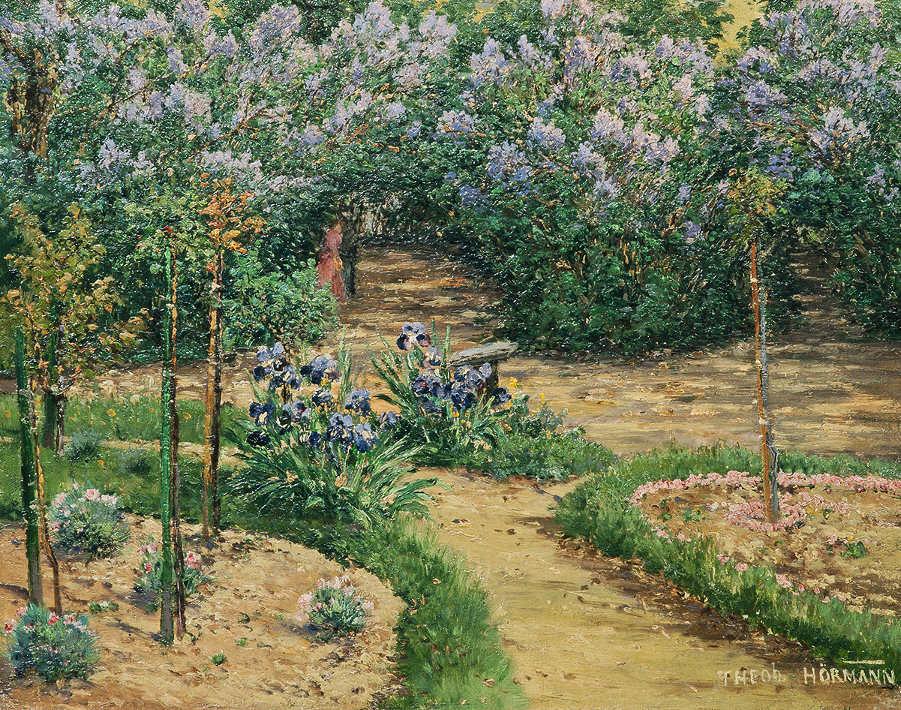 Theodor von Hörmann, Im Park von Stift Klosterbruck bei Znaim, 1893, Öl auf Holz, 32,5 × 41 cm (Privatbesitz)