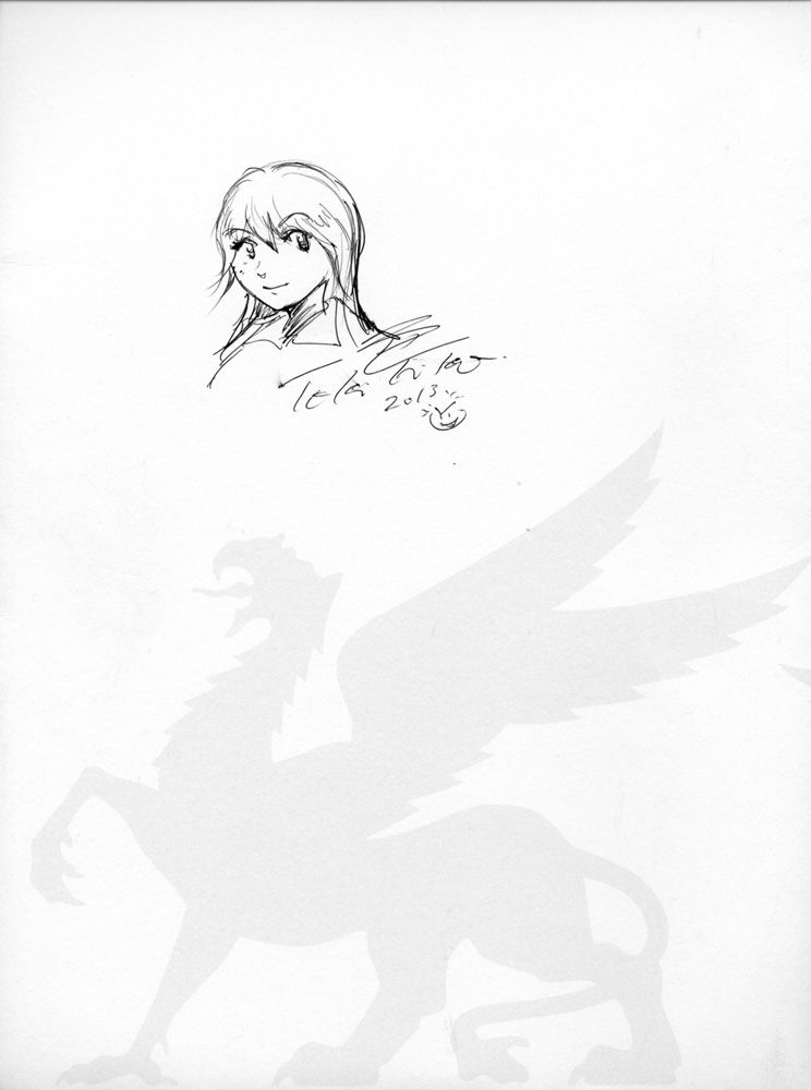 Tokihiko Ishiki, Manga für Anna © Tokihiko Ishiki, Foto: Alexandra Matzner, Besitz Anna-Maria Matzner.
