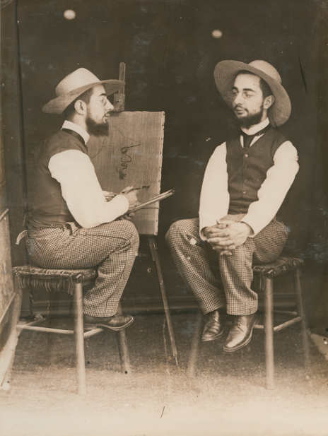 Maurice Guibert, Lautrec porträtiert Lautrec, um 1894, Aus einem Album mit 33 Photographien der Familie Toulouse-Lautrec, Collection Georges Beaute © Beaute, Réalmont; Photographe David Milh.