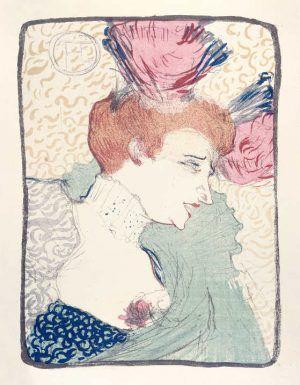Henri de Toulouse-Lautrec, Marcelle Lender als Büste, 1895, Farblithographie in Pinsel, Kreide und Spritztechnik, 48,5 x 42 cm, Sammlung E.W.K., Bern.