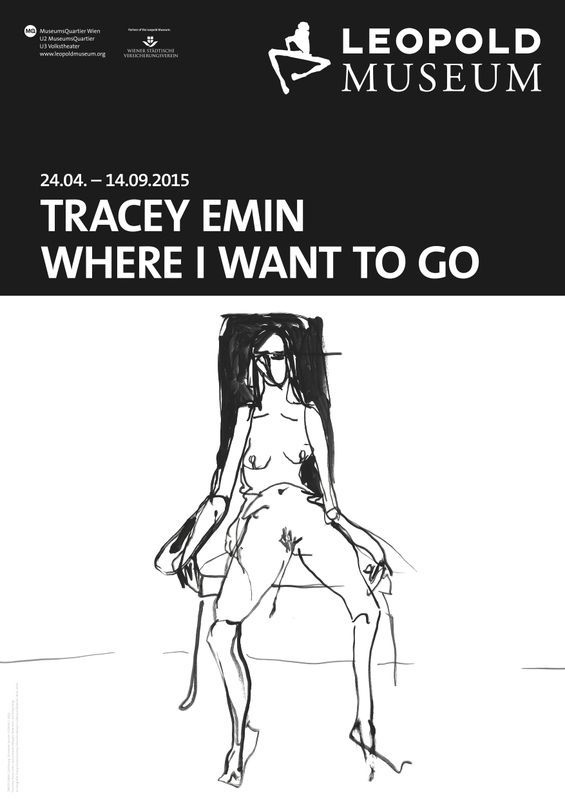 Tracey Emin - Egon Schiele. Where I want to go, Plakat