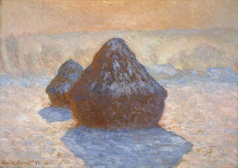 Claude Monet, Getreidehaufen, Schnee Effekt, 1891 (Scottish National Gallery, Edinburgh)