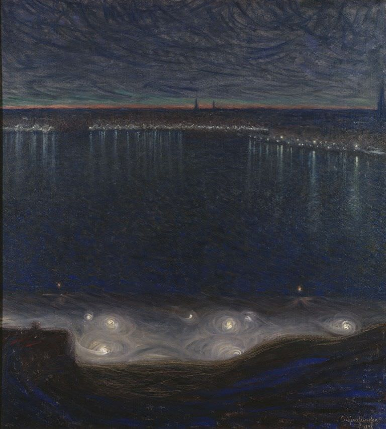 Eugène Jansson, Riddarfjärden, Stockholm, 1898 (Nationalmuseum, Stockholm. Bequest 1899 of art friends by author Klaus Fåhræus and professor Ivar Bendixson)
